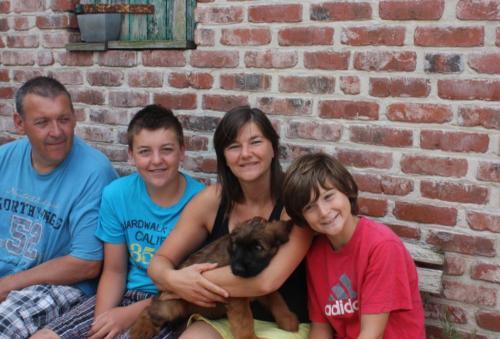 """Baldini """"Layton""""wohnt jetzt bei Patsy und ihrer Familie in Belgien."""
